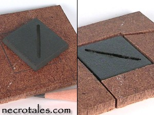 Square base holes.